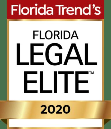 Florida Trend's Legal Elite 2020 Badge