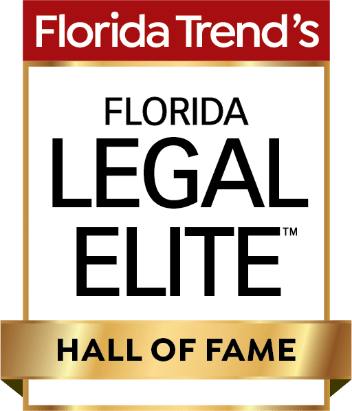 Florida Trend's Legal Elite Hall Of Fame Badge